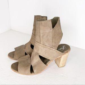 Free People Effie Cut Out Block Heel Sandals